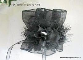 Polsbandje  PB-BR-3-zw   zwart