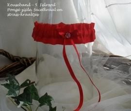 Kousenband  R-5  Felrood  pongé-zijde