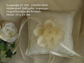 Ringkussen REMBO  16-86C   champagne    NIEUW !!