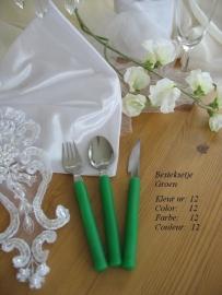 besteksetjes voor bijv. bruidstaart/feestje   no 12  groen