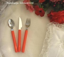 besteksetje voor bijv. bruidstaart/feestje  no 5  koraalrood