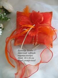 Ringkussen Rembo  37  oranje-rood  NIEUW!!