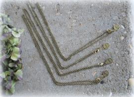 Basis kettingen - diverse lengtes - goudkleurig