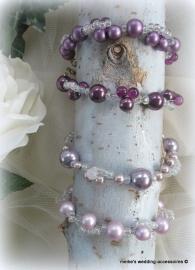 Armbandjes paars, vintage lila en lila