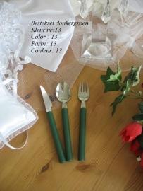 besteksetjes  voor bijv. bruidstaart/feestjes   no 13  donkergroen