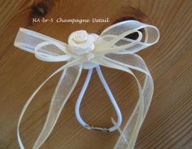Haar-accessoire  HA-br-5 champagne   met elastiekje