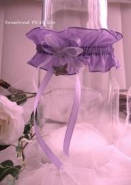 Kouseband  PR-14 lila met vlinder bedel