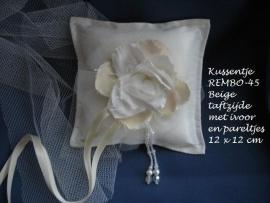 Ringkussen Rembo  45  beige met ivoor  NIEUW !!
