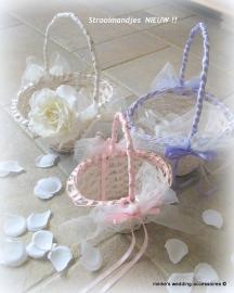 NIEUW !! Strooimandjes ovaal - off-white - met diverse kleuren decoratie prijs vanaf