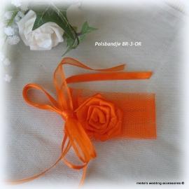 Polsbandje voor bruid  BR-3-OR  met tule