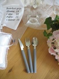 besteksetjes  voor bijv. bruidstaart/feestje no 14 grijs