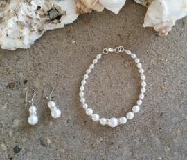 bruidssetjes (collier, armbandje, oorbellen) serie  Meike