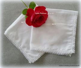 Bruidszakdoekje met zijde/katoen - 2 soorten kant