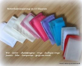 Motorkap versiering trouwauto  in 10 kleuren prijs is vanaf.....