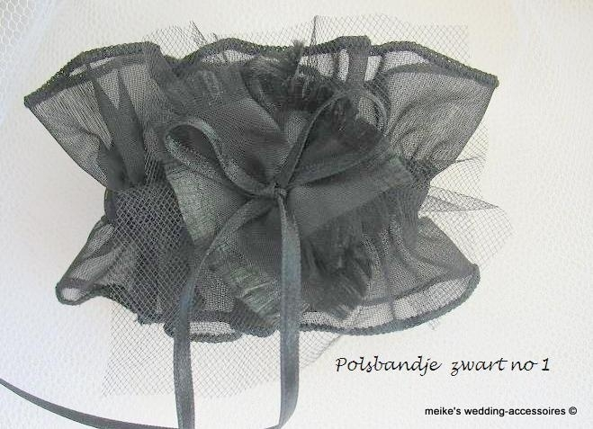 polsbandje PB- BR-1-zw   zwart