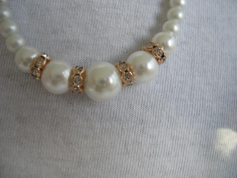 Bruidsarmbandje M-BR-14  ivoor met goudkleur + oorbellen