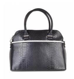 Zwarte handtas met witte streep van het merk giuliano