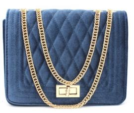 Blauwe schoudertas met het merk brakelenzo