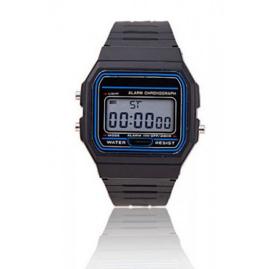 Zwarte digitale horloge