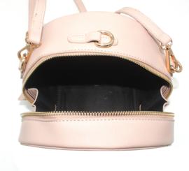 Roze ronde schoudertas  van het merk brakelenzo