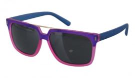 Blauw/roze zonnebril