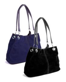 Zwarte suede handtas van het merk giuliano
