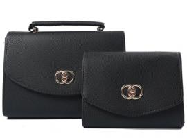 Zwarte handtas set van 2