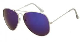 Zilveren piloten zonnebril