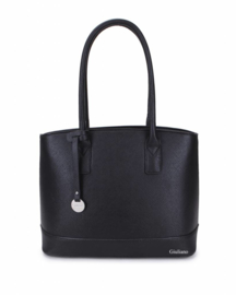 Zwarte handtas met lang handvat van het merk giuliano