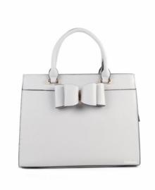 Grijze handtas met strik van het merk giuliano klein