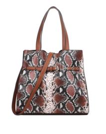 Zwart/bruine snake handtas van het merk giuliano