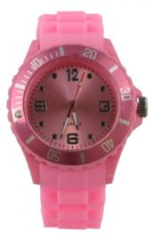 Roze horloge met rubberenband