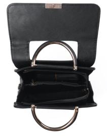 Zwarte handtas met nog een kleiner tasje