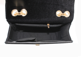 Donker Grijs/Bruine schoudertas van het merk brakelenzo