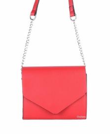 Rode clutch van het merk giuiano