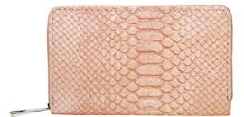 Roze portemonnee met croco print