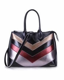 Zwarte handtas met space kleuren van het merk giuliano