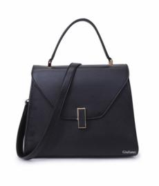 Zwart handtas  met klep van het merk giiuliano