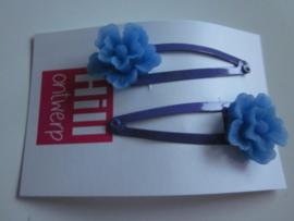 Blauwe knipjes met blauwe bloem