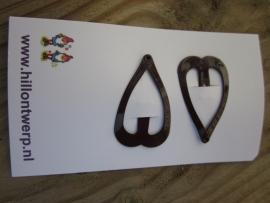Hartvormige chocoladebruine kleine knipjes