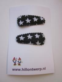 Haarknipje zwarte sterren