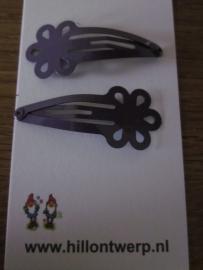 Paarse bloemknipjes