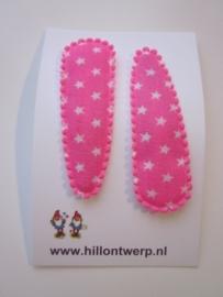 Haarknipje sterren roze
