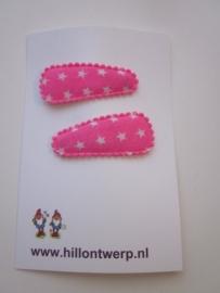 Haarknipje kleine sterren roze