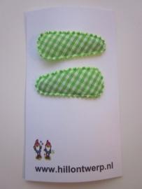 Haarknipje groen ruitje