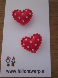 rood hartje met witte stipjes