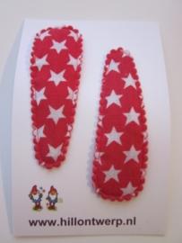Haarknipje rode sterren