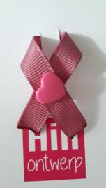 Oud roze met roze harte drukker
