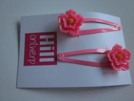 Roze knipjes met roze bloem