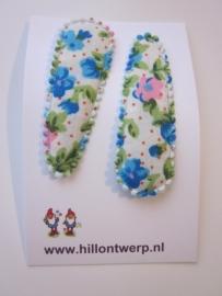 Haarknipje turkoois bloemetje